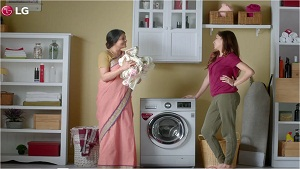 Product commercial for lg washing machine