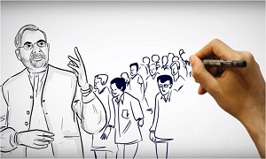 Launch whiteboard animation for swach bharat abhiyan