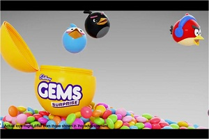 Tvc for chocolate brand gems angry bird