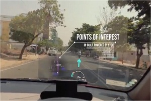 Product demo for car hud